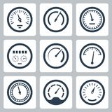 Meters vector icons set #2 Stock Photography