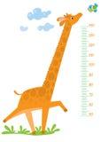 Meterwand mit Giraffe und Vogel Lizenzfreie Stockfotografie