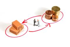 Metáfora de la inversión del reparto Imágenes de archivo libres de regalías