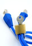 Metáfora de la seguridad del Internet Fotos de archivo