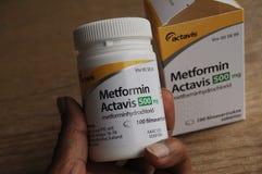 METFORMIN ACTAVIS MEDICEINE VOOR DIABETESziekte royalty-vrije stock afbeeldingen