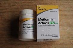 METFORMIN ACTAVIS MEDICEINE VOOR DIABETESziekte stock fotografie