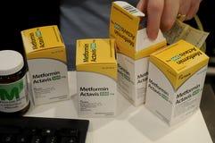 METFORMIN ACTAVIS medycyny stoły Zdjęcie Royalty Free