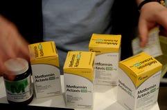 METFORMIN ACTAVIS medycyny stoły Zdjęcia Royalty Free