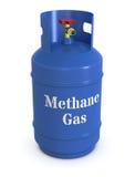 Methaangasfles stock illustratie