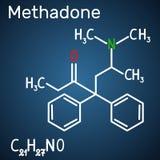 Methadone Dolophine molekuła Formalnie chemiczna formuła ilustracja wektor