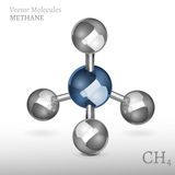 Methan-Molekül 01 A Lizenzfreie Stockfotos