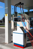 Methane car station. Pump of a methane car station Royalty Free Stock Photography