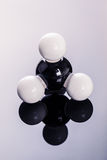 Methane chemical molecular structure Stock Photos