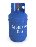 Methane gas cylinder Stock Images