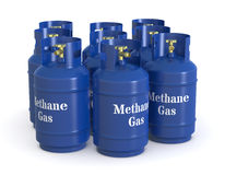 Methane gas cylinders Royalty Free Stock Photos
