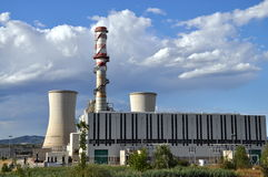 Methane gas turbine power plant Stock Photos