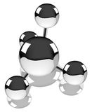 Methane molecule with reflection Royalty Free Stock Images