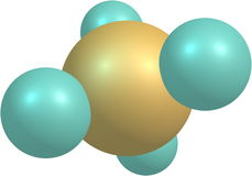 Methane molecule on white Royalty Free Stock Photos