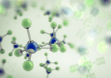 Methane molecules Royalty Free Stock Photos