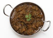 Methi gosht or lamb with fenugreek leaves Stock Image