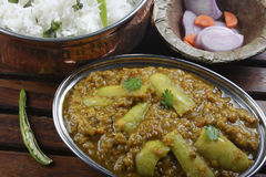 Methi moong daal is a delicacy dish from north India. Methi moong daal is a spicy vegetable made with moong daal, methi and fresh spices Stock Photography