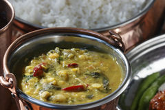 Methi moong daal is a delicacy dish from north India. Methi moong daal is a spicy vegetable made with moong daal, methi and fresh spices Royalty Free Stock Photography