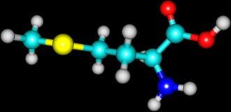 Methionine acid molecule isolated on black Stock Photography