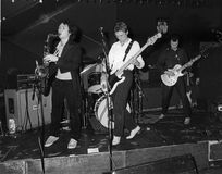 The Method. British pop group, perform live on stage in London on December 11, 1978 Stock Images