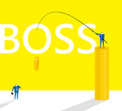 The method of a boss Stock Image