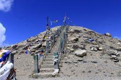 Methode zum Himmel Gurudongmar See lizenzfreie stockbilder