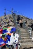 Methode zum Himmel Gurudongmar See lizenzfreie stockfotos