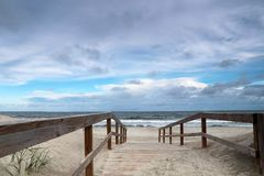 Methode zum Strand Lizenzfreie Stockfotos