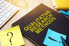 Methoden der qualitativen Forschung auf einem Schreibtisch lizenzfreie stockbilder