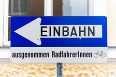 Methodenstraße, Verkehrsschild mit zusätzlichem Lizenzfreie Stockbilder