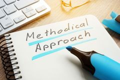 Methodical Approach written on a page of the note. royalty free stock photography