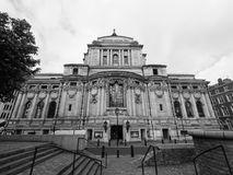 Methodist Central Hall in London black and white Royalty Free Stock Photography