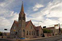 Methodist church in Albuquerque, New Mexico Royalty Free Stock Image