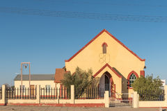 Methodist Church, built 1926, in Keetmanshoop. KEETMANSHOOP, NAMIBIA - JUNE 13, 2017: The Methodist Church, built 1926, in Keetmanshoop, the capital town of the Royalty Free Stock Photo