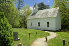 Methodist Church in Cades Cove of Smoky Mountains, TN, USA Stock Photo