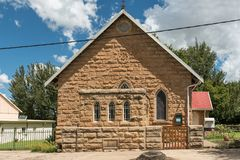 Methodist Church in Ficksburg in the Free State Province. FICKSBURG, SOUTH AFRICA - MARCH 12, 2018:  The Methodist Church in Ficksburg in the Free State Province Royalty Free Stock Photography