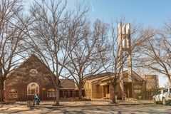 Methodist Church in Vereeniging in the Gauteng Province. VEREENIGING, SOUTH AFRICA, JULY 30, 2018: The Methodist Church in Vereeniging, a town in the Gauteng royalty free stock image