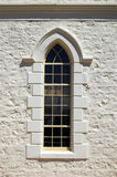 Methodist Window. A window on the Moonta Methodist church stock image