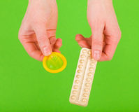 Methods of contraception Stock Images
