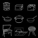 Methods of cooking. Vector illustration Stock Photography