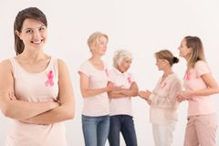 Methods of fighting with breast cancer Stock Photo