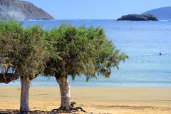Methoni beach Stock Photo