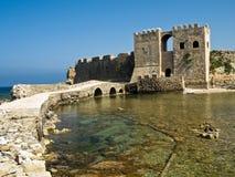 Methoni castle, Greece stock image