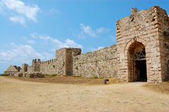 Methoni castle, messinia, greece. View of the castle of methoni, city of messinia, in peloponese, greece.it was built and occupied by the venitians from 12th Royalty Free Stock Photo