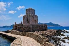 Methoni Castle Tower, Western Peloponnese, Greece stock image