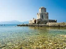 Methoni fort i Grekland Royaltyfri Fotografi