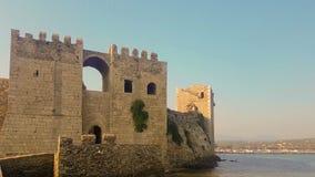 Methoni, Grécia 4 de agosto de 2017 Fortaleza do castelo de Methoni em Grécia vídeos de arquivo