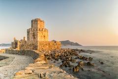Methoni, Grecja 9 2017 Sierpień Methoni forteca w Grecja, Peloponnese zdjęcie royalty free
