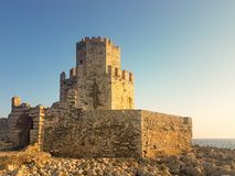 Methoni, Greece 9 August 2017. Castle of Methoni in Greece Peloponnese royalty free stock image
