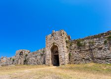 Methoni, Peloponnese, Messenia, Greece. The Methoni Venetian Fortress in the Peloponnese, Messenia, Greece stock image